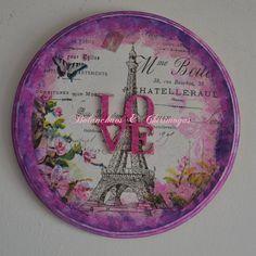 "Cuadro ""Love París"". $160"