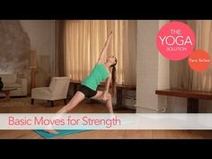 Basic Moves for Strength   The Yoga Solution With Tara Stiles #yoga #video    http://www.livestrong.com/original-videos/SlRDCfWQnVk-yoga-solution-tara-stiles-basic-moves-strength/