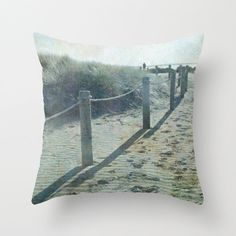 Decorative beach pillow cover aged effect olde by NewCreatioNZ