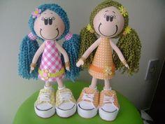 Muñecas fofuchas con pelo de lana