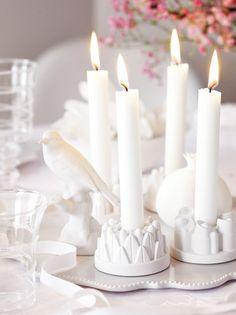 Gipstörtchen mit Kerze
