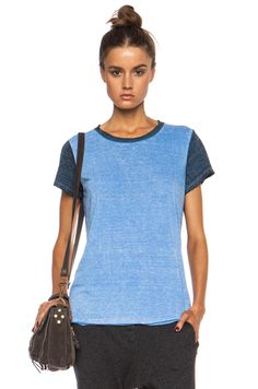 NSF Jagger Poly-Blend Tee in Baby Blue | FWRD