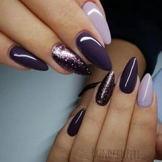 Fabulous Purple Nail Art Designs - The most beautiful nail designs Nail Art Designs, Nail Polish Designs, Acrylic Nail Designs, Acrylic Nails, Holiday Nail Art, Halloween Nail Art, Gorgeous Nails, Pretty Nails, Ongles Gel Violet