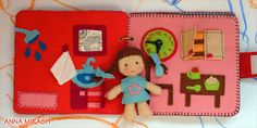 Felt Dollhouse Quiet Book (more cute pics of the pages on the russian blog post but no tutorial)