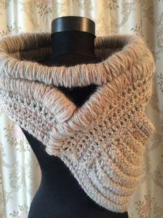Sale Huntress cowl  wool vest accessorize  ready to by JoJOZoo