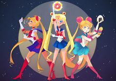 Sailor Moon(different types) - Abby's art