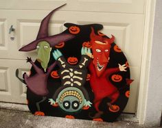 Lock, Shock, and Barrel from Nightmare Before Christmas wall decoration