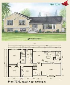 Image Result For Tri Level House Plans 1970s Tri Level House Sims House Plans Split Level House Plans