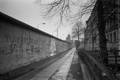 "chrisjohndewitt: ""PUNX NOT DEAD! Graffiti on the Berlin Wall at Leuschnerdamm in Kreuzberg. Taken April 1985. """
