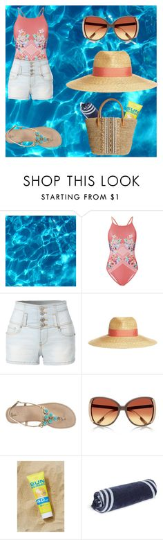 """""""Chillin' at the pool"""" by smilesonly8 ❤ liked on Polyvore featuring MINKPINK, LE3NO, Lanvin, Lilly Pulitzer, River Island, Urban Outfitters, The Beach People and Skemo"""
