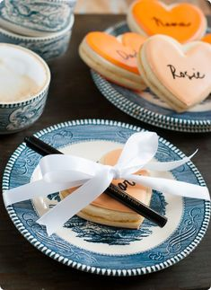 thankful (cookie) hearts ::: interactive cookies for thanksgiving dessert, easy and quick to make! from @bridget edwards {bake at 350}