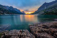 St. Mary Lake, Glacier national park, MT
