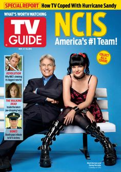 November 12, 2012. Mark Harmon and Pauley Perrette of NCIS.