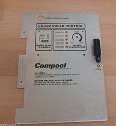 Ship from USA Pentair Compool LX220 BEZEL Replacement Solar Control Panel ITEM NOE8FH4F854113951 -- Read more at the image link.