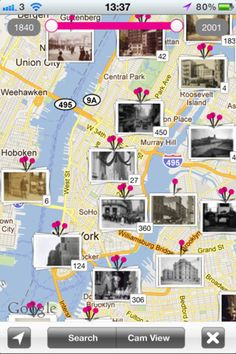 history pin app- shows photos from the past compared to photos of the same place today. Love this!!!!!