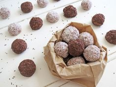 Tim Tam Balls -A yummy, quick after dinner snack. 2 pkts Tim Tams, 3/4 tin condensed milk, coconut. Blend biscuits in food processor, add condensed milk. Roll balls in coconut and refrigerate until firm - YUM!!! Or if you want to use the full tin of condensed milk, use 30 Tim Tams - even more yumminess to go around then :-)