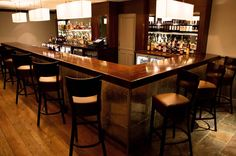 A bar like this but a little smaller and a little less modern!