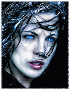 Kate Beckinsale - Underworld by kruemel-sangerhausen on DeviantArt Underworld Selene, Underworld Movies, Underworld Kate Beckinsale, Beautiful Dark Art, Most Beautiful Faces, Beautiful Women, Dracula, Film Images, Vampires And Werewolves