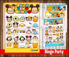 80% OFF SALE Tsum Tsum Bingo 10 cards Game by mrkitspartyshop