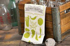 farmers market - tea towels for wedding showers