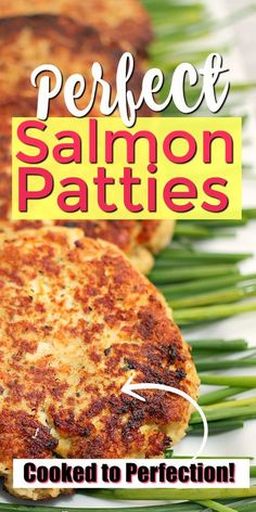 Salmon patties are a delicious and easy dinner idea that you can make for your family tonight! This simple, comfort food Simple Salmon Patties Recipe, Best Salmon Patties, Southern Salmon Patties, Baked Salmon Recipes, Seafood Recipes, Salmon Croquettes, Healthy Dinner Recipes, Healthy Meals, Easy Recipes