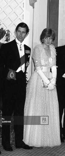 An poster sized print, approx (other products available) - Lady Diana Spencer with the Prince of Wales at the banquet given at Claridge& Hotel in London by King Khalid of Saudi Arabia. - Image supplied by PA Images - Poster printed in Australia Lady Diana Spencer, Prince Charles, Charles And Diana, Princesa Diana, Isabel Ii, Diane, Prince And Princess, Prince Of Wales, Queen Of Hearts