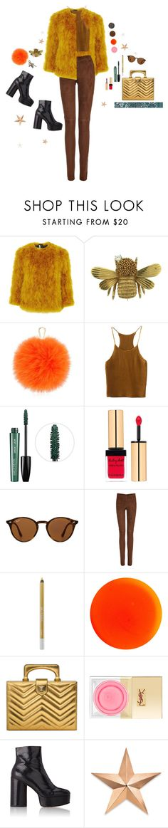 """72"" by rebeccaflint ❤ liked on Polyvore featuring Hermès, Topshop, Furla, MAKE UP FOR EVER, Yves Saint Laurent, Ray-Ban, Joseph, Urban Decay, Manic Panic NYC and Gucci"
