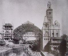 Construção da Estação da Luz - 1900