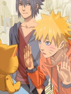 I love the way Sasuke's looking at Naruto ;w;