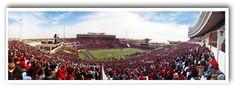 Texas Tech University   Panoramic Stadium and Photo Art Prints