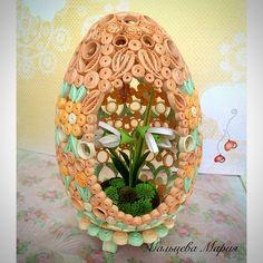 Quilling egg, ester spring flowers
