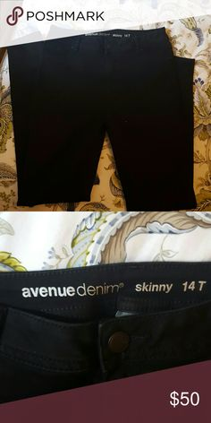 NWOT Avenue denim Skinny Jeans Size 14T New Avenue Skinny Jeans  Never Worn * Size 14 T Must go! Purchased this by mistake Avenue Jeans Skinny