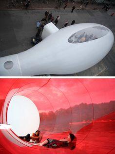 temporary plastic bubble architecture