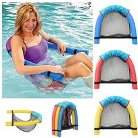 Floating chair New Novelty Bright Color Pool Floating Chair Swimming Pool Seats Amazing Floating Bed Chair Pool Noodle Chair . Floating Lounge, Floating Chair, Floating In Water, Floating Island, Swimming Pool Noodles, Swimming Pools, Swimming Pool Accessories, Pool Lounge Chairs, Children Swimming Pool