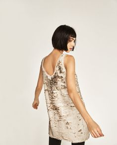 Image 4 of TWO-TONE SEQUIN DRESS from Zara