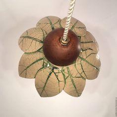 Купить Керамический светильник «Букетик из листьев лопуха» - керамический плафон, люстры потолочные