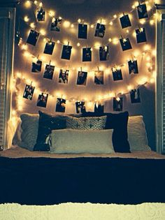room ideas #headboard #lights #pictures