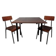 3 Piece Dining Table Set - Chestnut - Threshold™