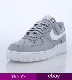 separation shoes bff40 50fea Mens Nike Air Force 1 07 Low Lifestyle GreyWhite Sizes 8-12 NIB AA4083-013