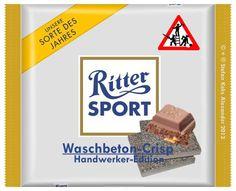 RITTER SPORT Fake Schokolade Waschbeton-Crisp (von Stefan Keks Alexander)