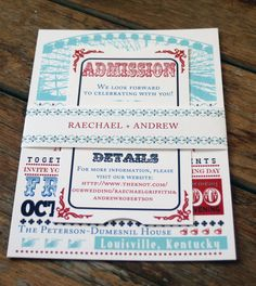 Modern Vintage Wedding Invitation Ferris by Bdesignsinvitations, $4.05; etsy.com