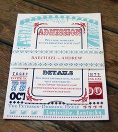 Idea for Danielle's wedding invitations