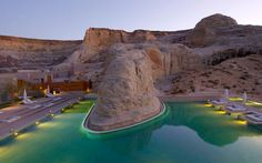 Resort - Luxury hotel located in the desert of Utah - Visit the we . Amangiri Resort - Luxury hotel located in the desert of Utah - Visit the we . Oh The Places You'll Go, Places To Travel, Places To Visit, Dream Vacations, Vacation Spots, Utah Vacation, Amangiri Utah, Amangiri Hotel, Lake Powell Utah
