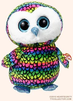 Aria (large) - owl - Ty Beanie Boos