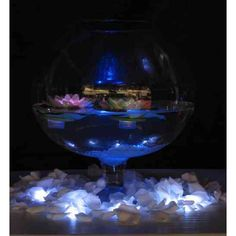 Floating Lily with White Glow Light BEST SELLER! [Buy Floating Lily Lights Acolyte] : Wholesale Wedding Supplies, Discount Wedding Favors, Party Favors, and Bulk Event Supplies