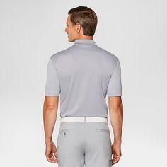 Men's Heather Stripe Golf Polo - Jack Nicklaus - Sleet Xxl, Gray