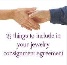 Resin Obsession blog:  15 things to include in a jewelry consignment agreement