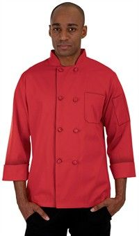 Basic Fit Chef Coat - Knotted Cloth Buttons - 100% Cotton