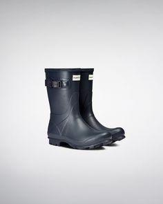 Womens Blue Short Field Wellies | Official Hunter Boots Site