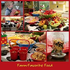 """Perfect """"farm foods"""" for Farm Party!I may fill it with M's. Farm Animal Party, Farm Animal Birthday, Barnyard Party, Farm Birthday, Country Birthday Party, 2nd Birthday Parties, Birthday Ideas, Farm Party Foods, Party Snacks"""